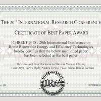 The Best Paper Award of the ICHREET 2018
